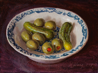 Youqing Wang - pickled cucumber and olives