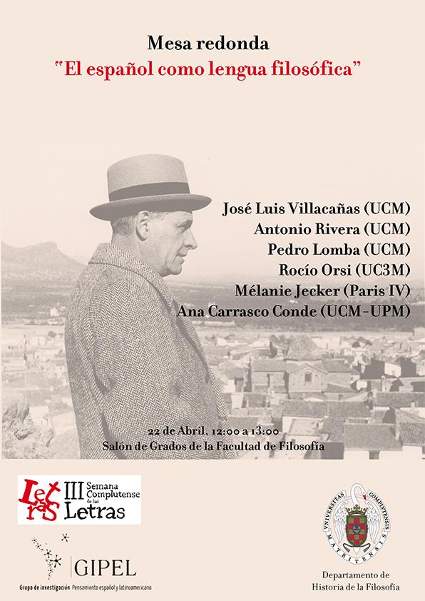 Semana de las Letras: El español como lengua filosófica