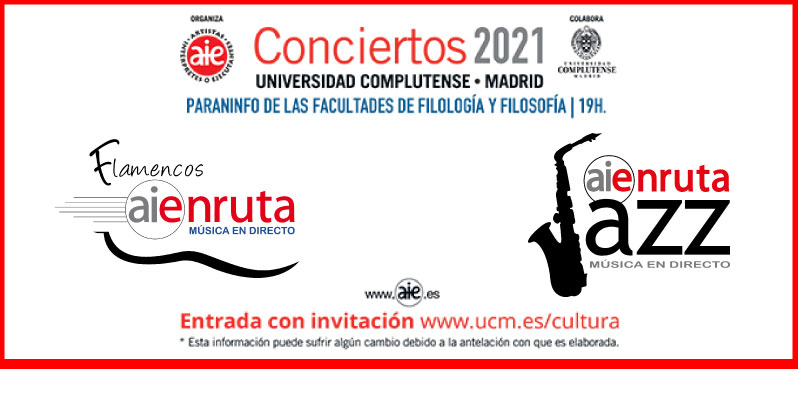 AIEnRuta 2021. Conciertos de Flamenco y Jazz.