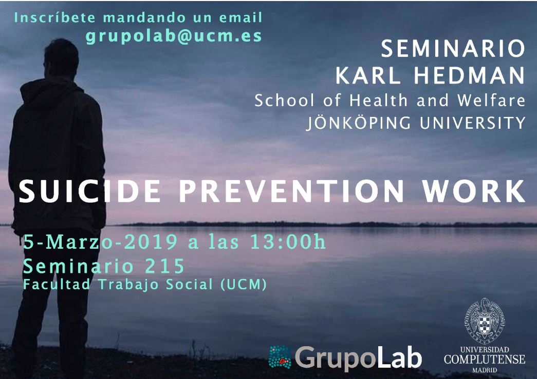 Seminario en GrupoLab: Suicide Prevention Work (Karl Hedman)