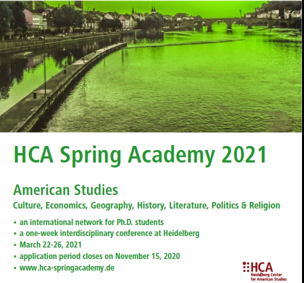 CFPs Heidelberg Center for American Studies 18th Annual Spring Academy Conference 22–26 March, 2021