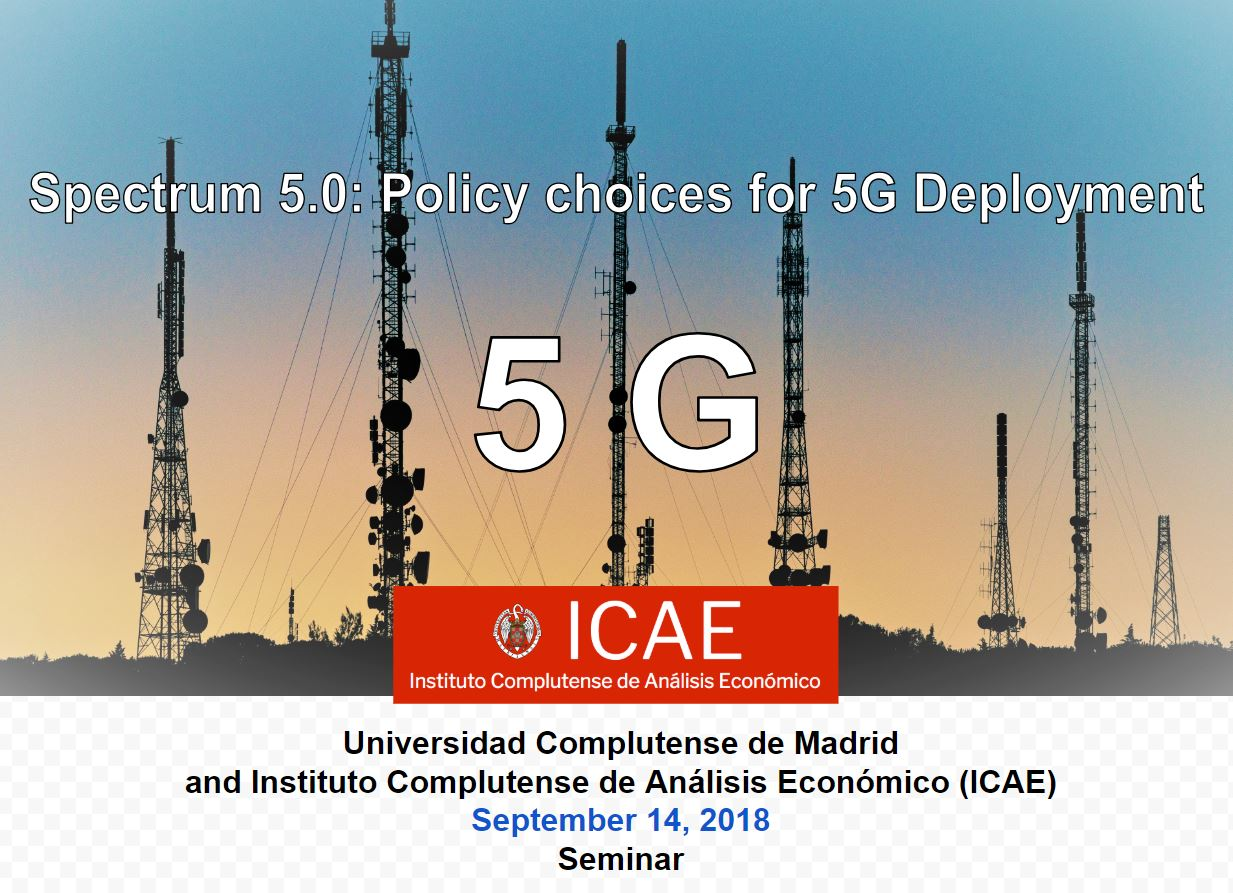 ICAE held the seminar Spectrum 5.0: Policy choices for 5G Deployment