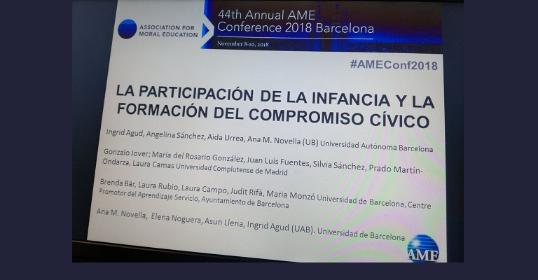 Participación del Grupo en la 44th AME Conference.