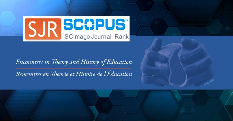 Encounters in Theory and History of Education entra en el índice SRJ