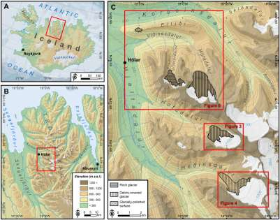 "Nueva publicación en Geomorphology ""Constraints on the timing of debris-covered and rock glaciers: An exploratory case study in the Hólar area, northern Iceland"""