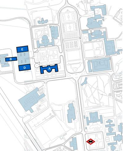 Mapa de localización de la Facultad de Filología
