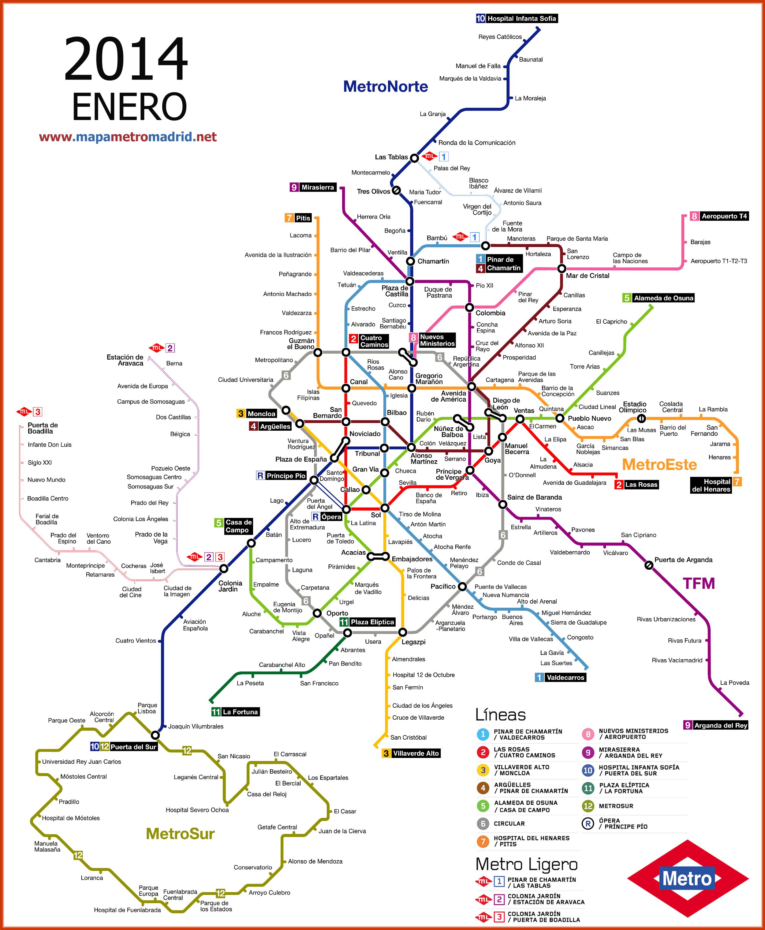 Metro Plano De Madrid Mapa