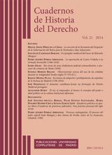 Cuadernos de Historia del Derecho Vol. 21