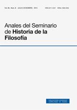 Anales del Seminario de Historia de la Filosofía Vol. 31, Núm. 2