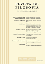 Revista de Filosofía Vol. 40, Núm. 1