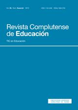 Revista Complutense de Educación Vol. 26, Núm. Especial. Monografía: TIC en Educación