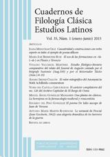 Cuadernos de Filología Clásica. Estudios Latinos Vol. 35, Núm. 1