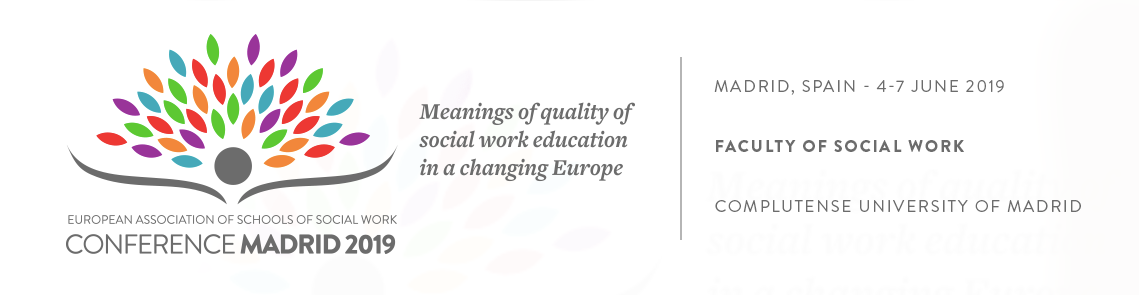 EUROPEAN ASSOCIATION OF SCHOOLS OF SOCIAL WORK CONFERENCE MADRID 2019