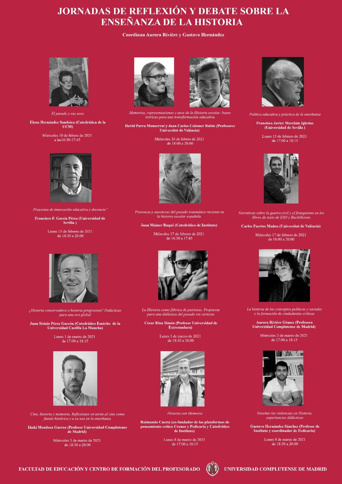 Reflexión y debate enseñanza de  la Historia (participantes)
