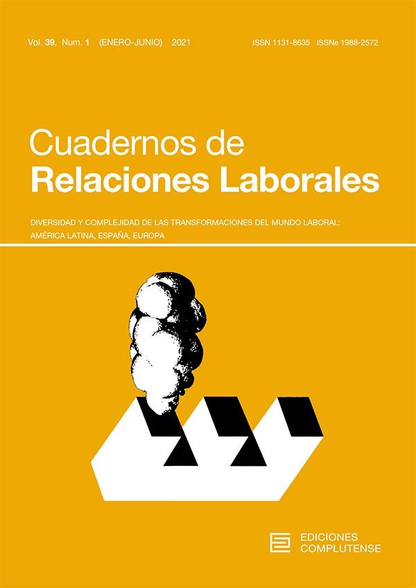 Portada Revista Cuadernos de Relaciones Laborales número 39.1.2021