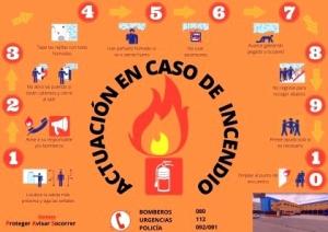 Actuación en caso de incendio