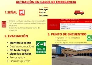 Actuación en caso de emergencia