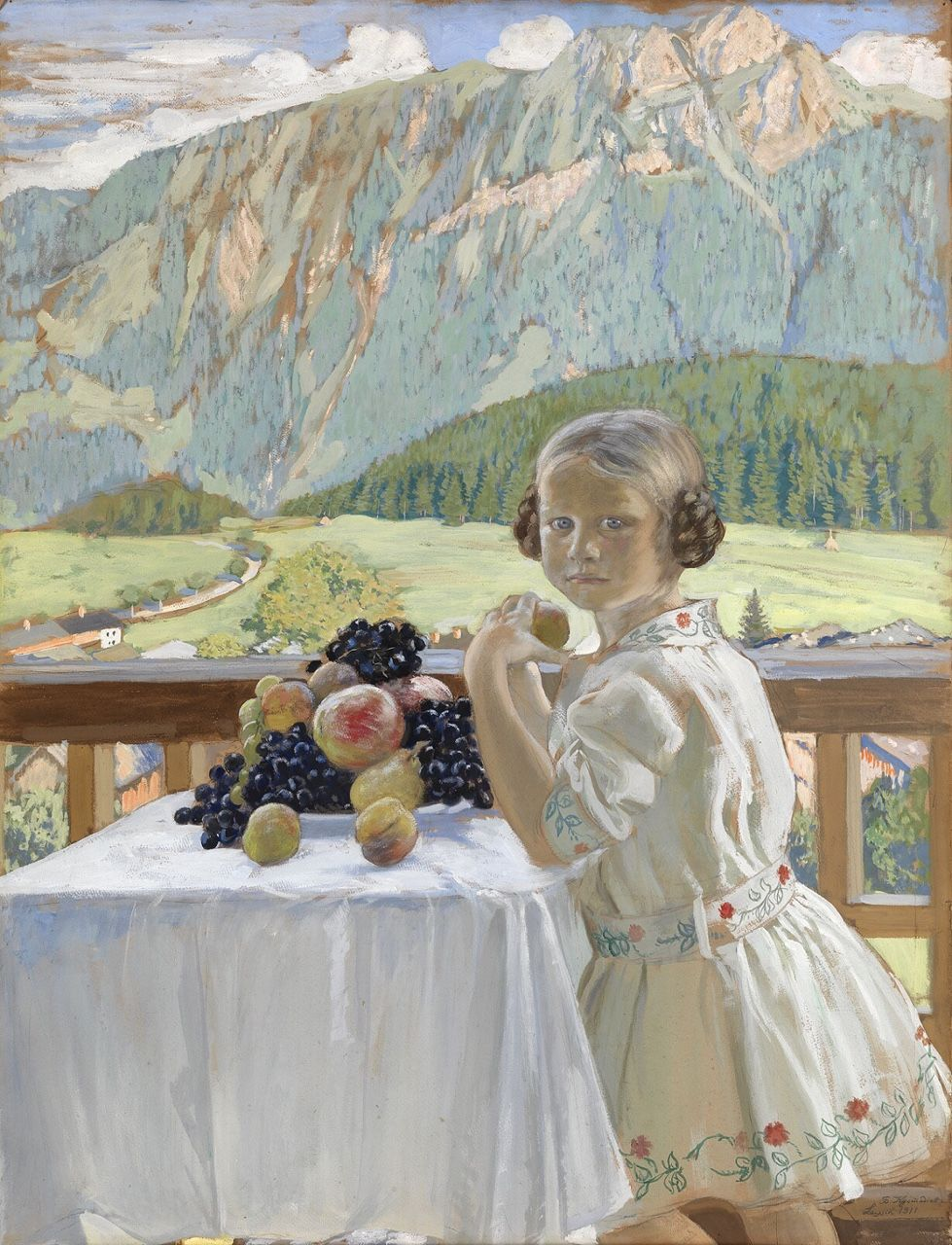 Boris Kustodiev - Portrait of Irina Kustodieva - 1911