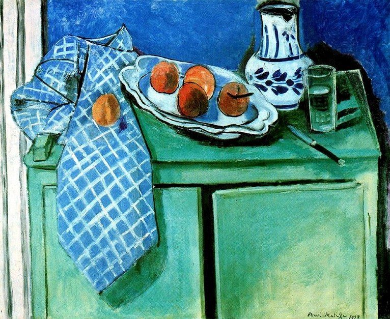 H-Matisse-Still Life with Green Sideboard-1928