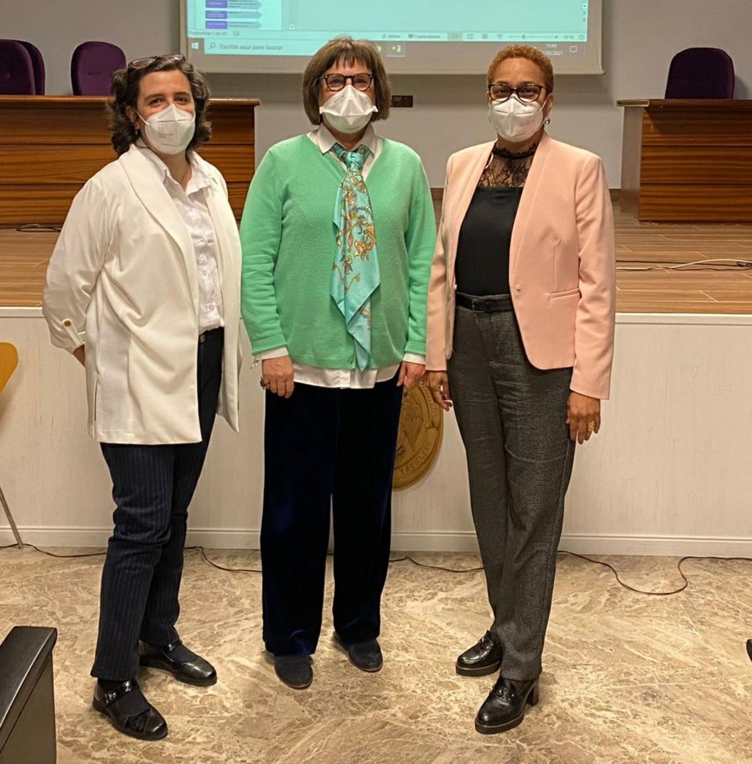 Inmaculada Aranaz, Ángeles Heras y Niuris Acosta