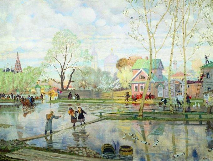 Boris Kustodiev - Spring - 1921