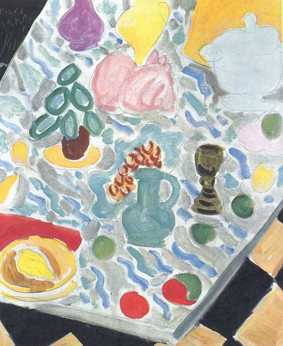 Henri Matisse - still life with a marble table - 1941