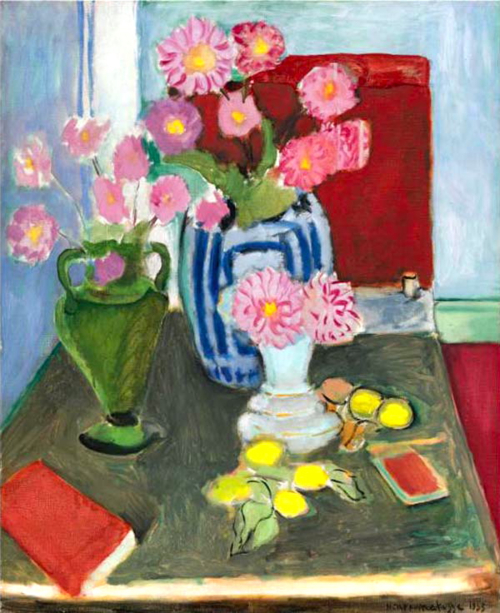 Henry Matisse - Still life with 3 vases - 1933
