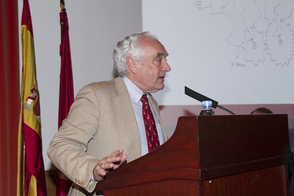 José Molero en el acto académico Premio de Transferencia en 2019. / UCM.