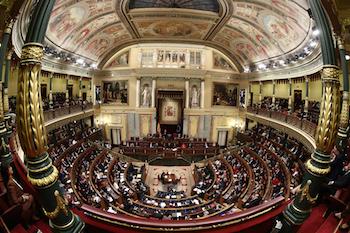 Hemiciclo del Congreso de los Diputados. / La Moncloa- Gobierno de España.