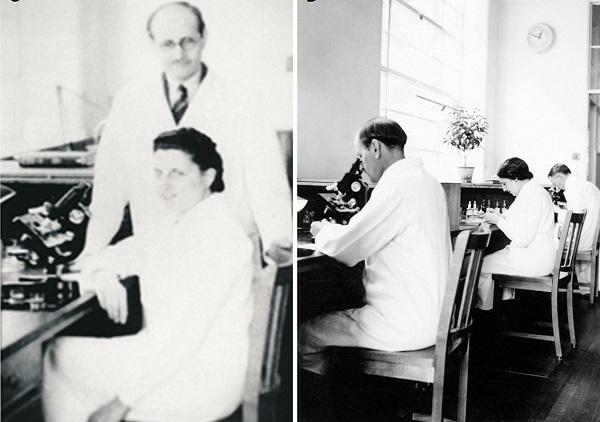 Asunción Amo del Río en el laboratorio con su tío. / Frontiers in Neuroanatomy