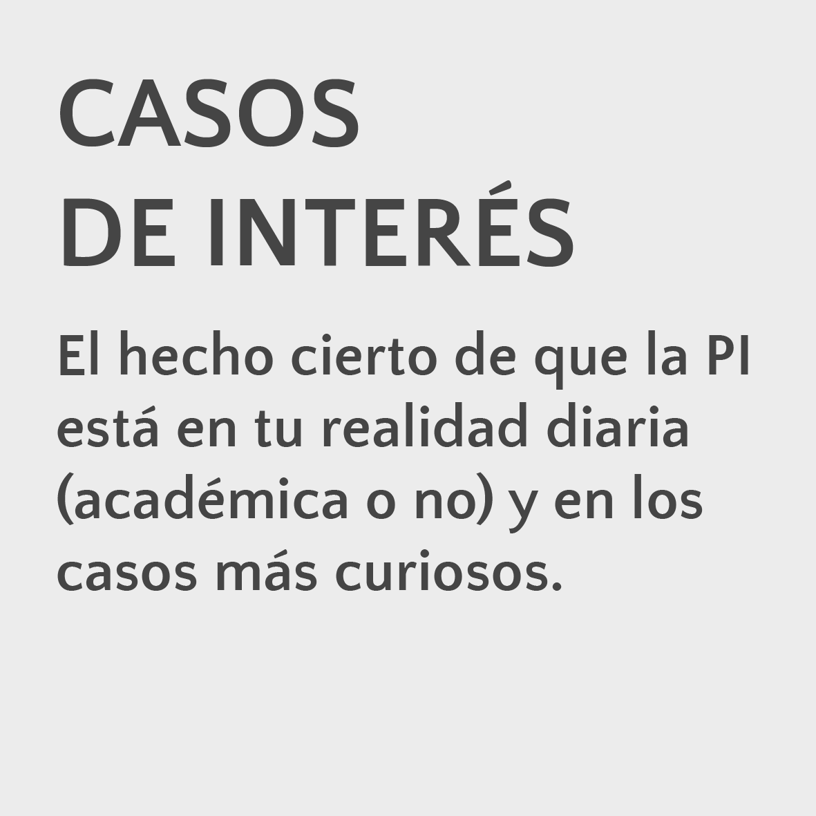 Casos de interés