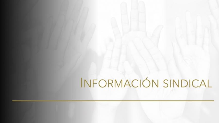 Información sindical